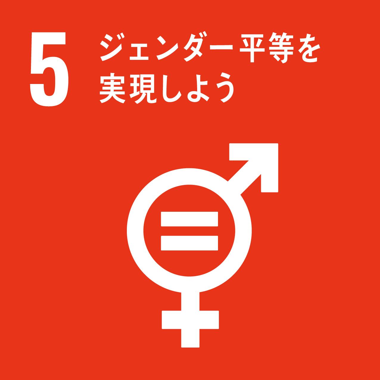 目標5番「ジェンダー平等を実現しよう」画像