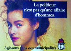 政治は男のものではない(フランス)三井マリ子さん提供